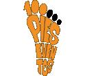 100 Pies Eventos Logo